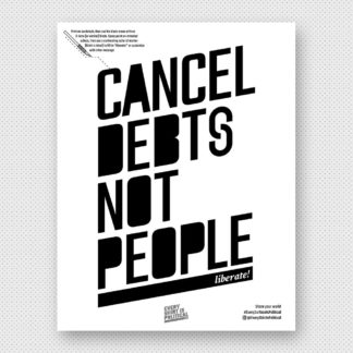 Cancel Debts Not People Stencil
